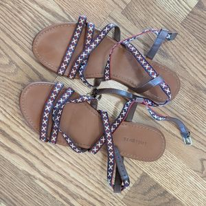 Embroidered Style Sandals